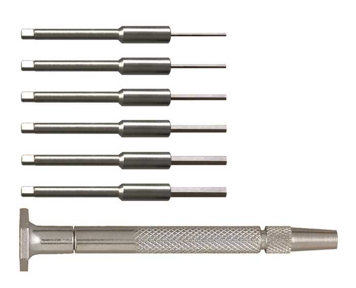 55-0141 – 7pc Steel Handle Hex Driver Set